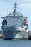 Un bateau de la Marine britannique. Image stock