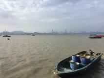 Un bateau de pêche Image libre de droits
