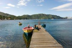 Un bateau de pêche chez Port Elizabeth Image stock