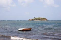 Un bateau seul photo stock