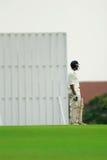 Un batteur de cricket Photo stock