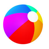 Un beach ball colorato divertimento vibrante Immagine Stock