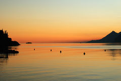 Un beau coucher du soleil Photo libre de droits