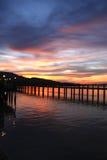 Un beau coucher du soleil Photographie stock