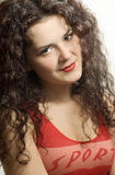 Un beau jeune brunette Photos libres de droits