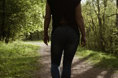 Un beau jour pour des promenades et la joie de la fra?cheur d'air et de nature images libres de droits