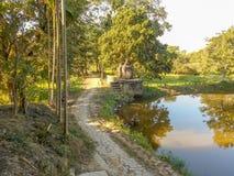 Un beau paysage dans un village Photo stock