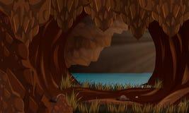 Un beau paysage de caverne Photo stock
