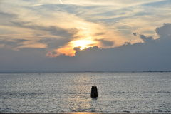 Un beau paysage de la lagune Images libres de droits