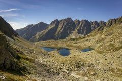 Un beau paysage des plis de Zabich de dolina Haut Tatra Mounta images libres de droits