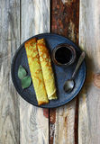 Un beau petit déjeuner de week-end Photographie stock libre de droits