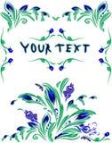 Un beau postal est avec des fleurs de ressort Photographie stock libre de droits
