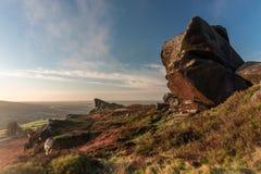 Un beau Ramshaw bascule le lever de soleil aux roches de Ramshaw en parc national de secteur maximal photos libres de droits