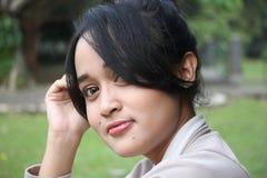 Un beau sourire de femme Photographie stock libre de droits