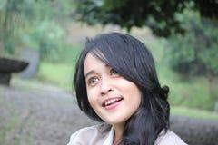 Un beau sourire de femme Photographie stock