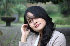 Un beau sourire de femme Photo libre de droits