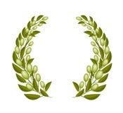 Un Beautifu Olive Wreaths su fondo bianco Fotografie Stock