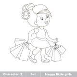 Un bebé de la historieta Compras de la afición Imagen de archivo