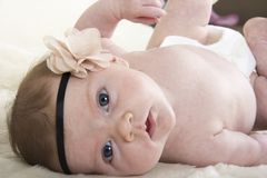 un bebé del mes Fotos de archivo