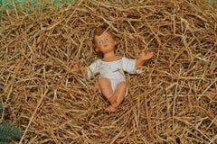 Un bebé Jesús Fotografía de archivo libre de regalías