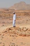 Un beduino en el desierto, Egipto Foto de archivo libre de regalías