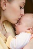 Un bello bambino di tre mesi Fotografia Stock