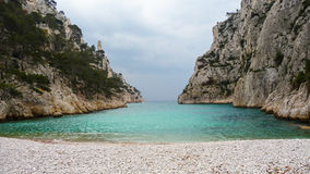 Un bello calanque con acqua perfetta del turchese Fotografia Stock Libera da Diritti