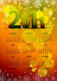 un bello calendario della 2011 scheda Fotografia Stock