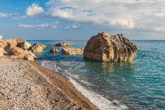 Un bello giorno alla spiaggia Fotografia Stock