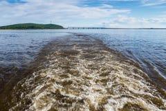 Un bello giorno sul fiume Fotografia Stock Libera da Diritti