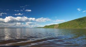 Un bello giorno sul fiume Immagine Stock Libera da Diritti
