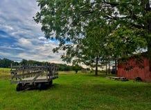 Un bello giorno sull'azienda agricola Fotografia Stock Libera da Diritti