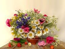 Un bello mazzo dei wildflowers Fotografia Stock Libera da Diritti