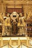 Un bello monumento della tomba di Cristoforo Colombo, che ha tenuto in alto da quattro re della Spagna: Castille, l'Aragona, Nava fotografia stock