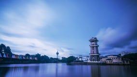 Un bello paesaggio del fiume a nord della Malesia Fotografia Stock