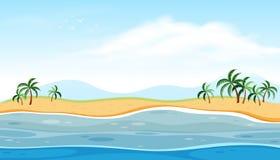 Un bello paesaggio della spiaggia Fotografia Stock