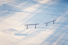 Un bello paesaggio di mattina di Roros Posto del patrimonio mondiale Città storica in Norvegia centrale Fotografie Stock