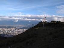 Un bello paesaggio di Quito Fotografia Stock Libera da Diritti