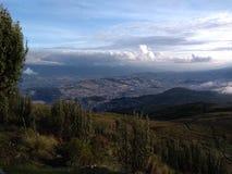 Un bello paesaggio di Quito Fotografia Stock
