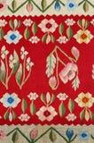 Un bello, reticolo floreale decorato del tessuto Fotografia Stock Libera da Diritti