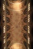 Un bello soffitto della chiesa Fotografia Stock
