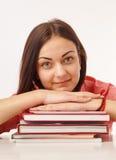 un bello studente con i libri Immagini Stock Libere da Diritti