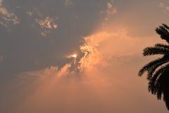 Un bello tramonto Immagini Stock Libere da Diritti