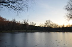 Un bello tramonto Fotografie Stock