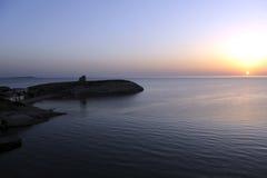 Un bello tramonto Fotografia Stock Libera da Diritti