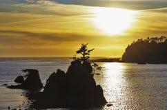 Tramonto nell'Oregon immagini stock