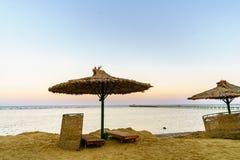 Un bello tramonto in Sharm El Sheikh egitto fotografia stock