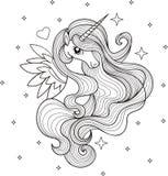 Un bello unicorno Rebecca 36 Vettore royalty illustrazione gratis