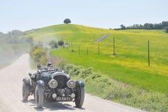 Un Bentley 1930 4 litros sobrealimentados en Miglia 1000 Foto de archivo libre de regalías