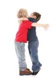 Un beso y un abrazo de la sorpresa Imagen de archivo libre de regalías